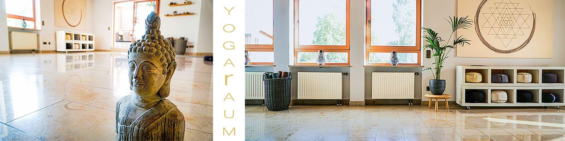 Der Yogaraum Erlangen bietet mit seinen 40 qm einen idealen Ort zum Wohlfühlen und Loslassen.